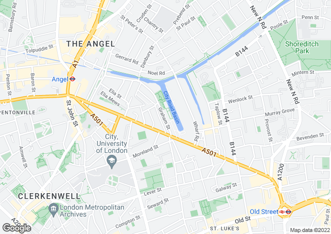 Map for Graham Street, Angel, London, N1