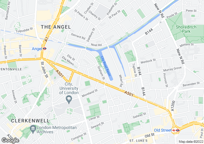 Map for 5000 cash back - Angel Waterside, Islington  N1