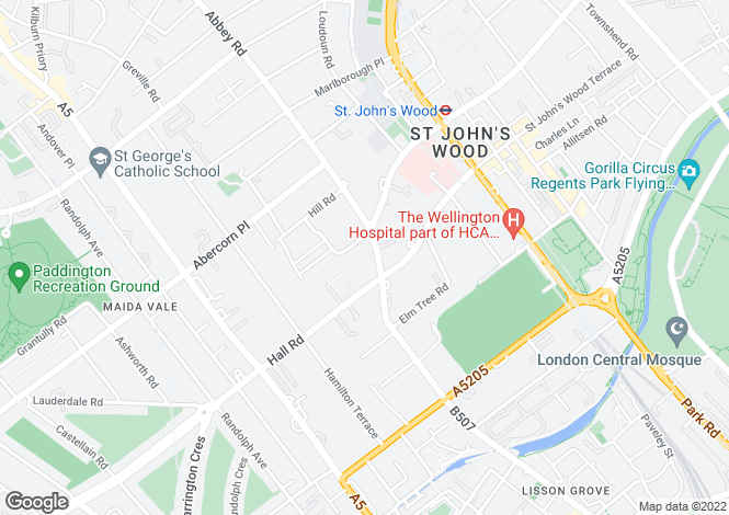 Map for Grove End Road, St John's Wood, London, NW8