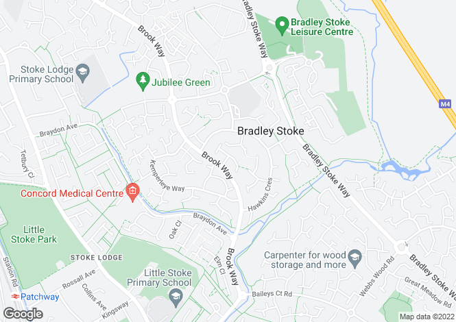 Map for Linden Drive, Bradley Stoke