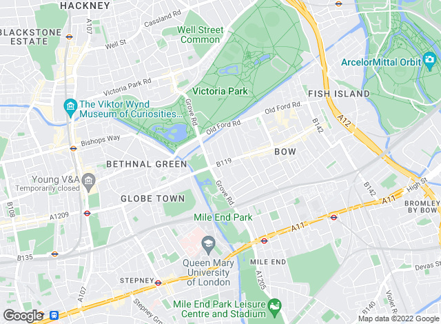 Map for Alex Neil, Bow