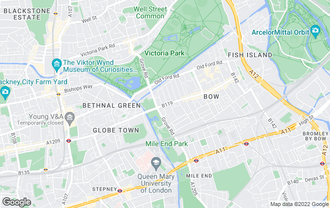 Map for Look Property Services Ltd, Bow