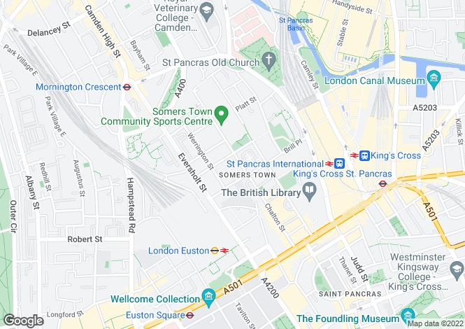 Map for Phoenix Road, Euston
