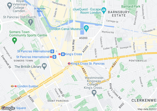 Map for Joiners Yard, Islington, London N1