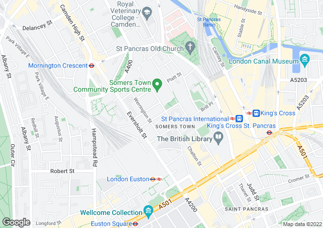 Map for Canal Boulevard, Camden, London
