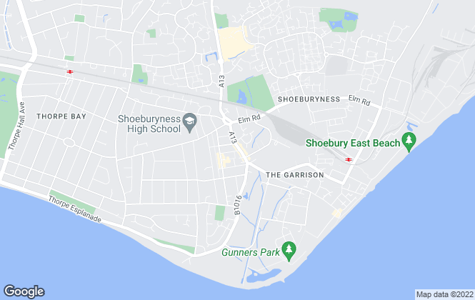 Map for Hunt Roche, Shoeburyness