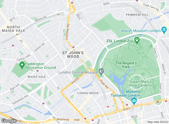 Map for Knight Frank, St John's Wood
