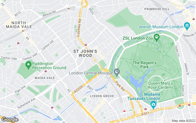 Map for Knight Frank - Lettings, St John's Wood