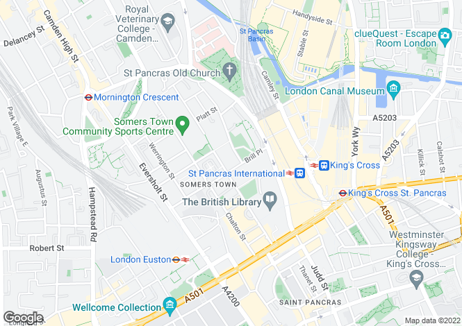 Map for OLYMPIC LETTINGS, St Pancras, London. NW1