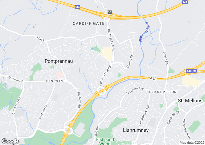 Map for Lascelles Drive, Pontprennau