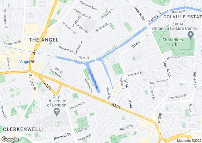 Map for Waterside, Angel, London