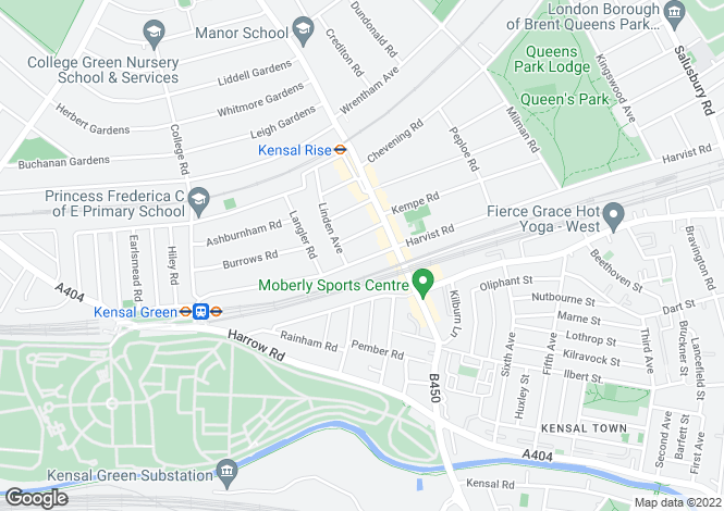 Map for Mortimer Road, Kensal Rise, London, NW10