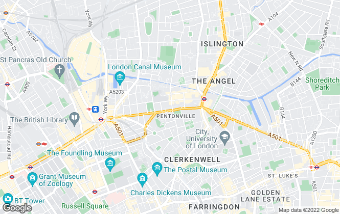 Map for Amwell Property, London