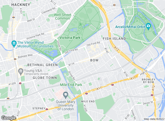 Map for Oliver Franklin, Bow