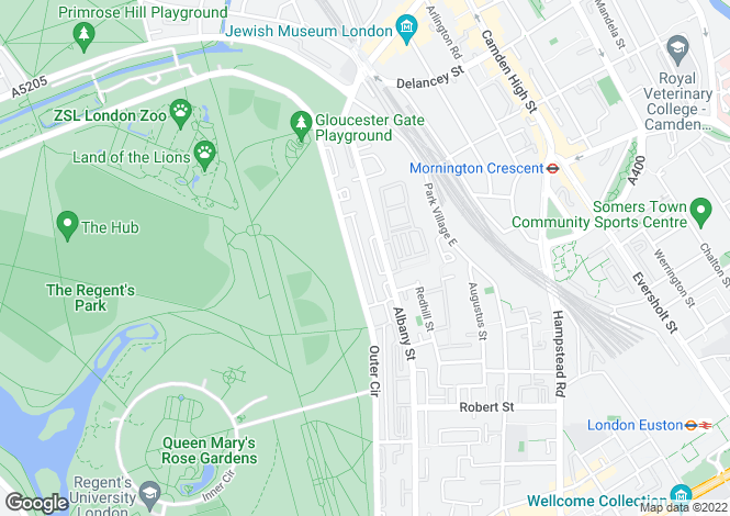 Map for Cumberland Terrace, Regents Park, London