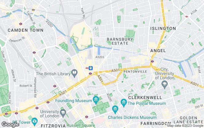 Map for Daniel Ford, Kings Cross