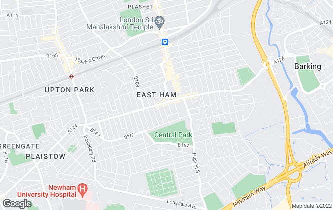 Map for Homeview, East Ham