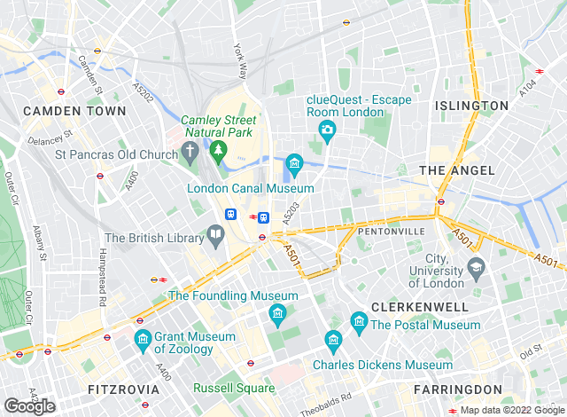 Map for Daniel Ford & Co, Kings Cross
