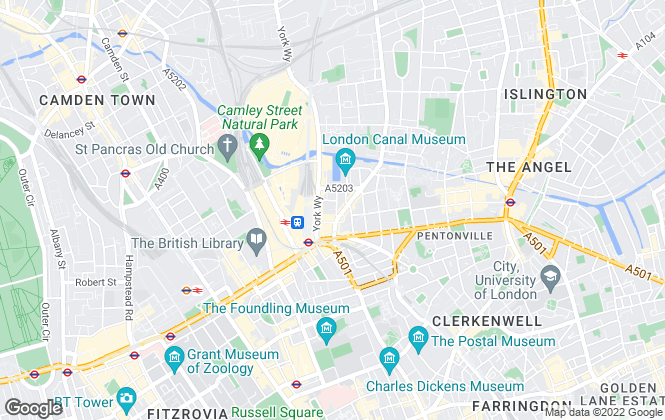 Map for Daniel Ford & Co, Kings Cross - Lettings