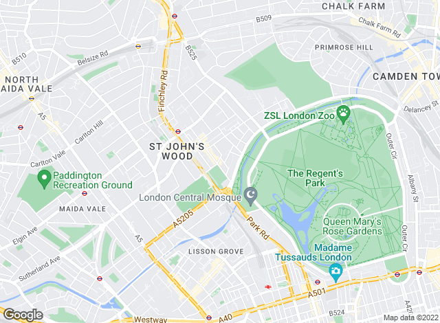 Map for Kinleigh Folkard & Hayward - Lettings, St John's Wood