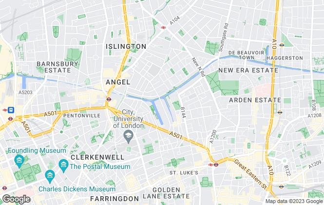Map for Aspen Woolf, Angel