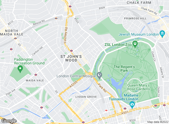Map for Savills, St Johns Wood