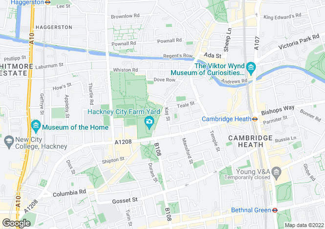 Map for Kay Street, LONDON, E2 8QE