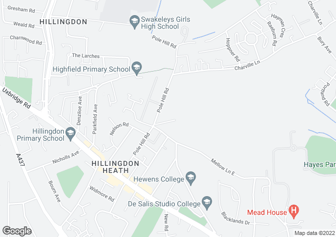 Map for Harrow View, Hillingdon, Middlesex, UB10