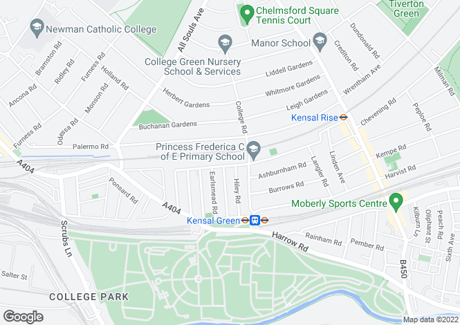 Map for Purves Road, Kensal Rise, NW10