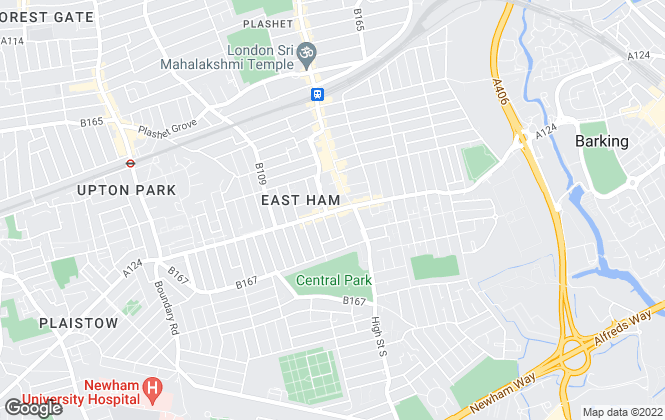 Map for ARQ HOMES, East Ham