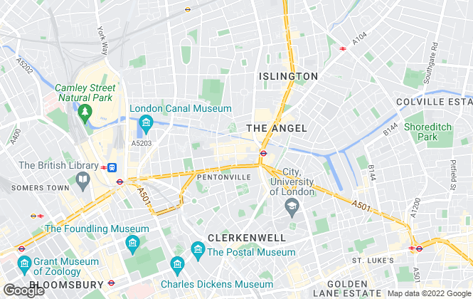 Map for Black Katz, Islington