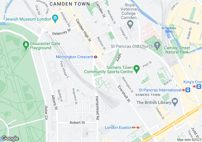 Map for Harrington Square, Camden, NW1