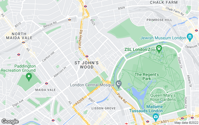 Map for Chestertons Sales, St. John's Wood