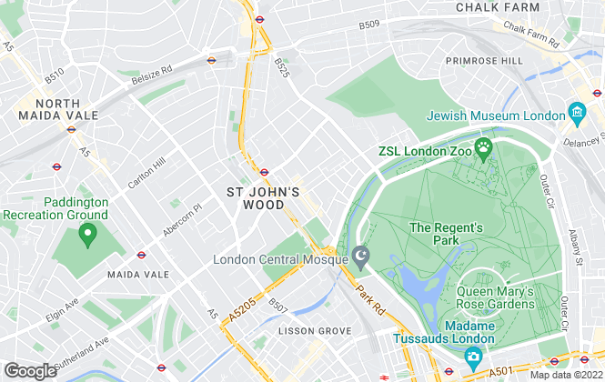 Map for Chestertons Lettings, St. John's Wood - Lettings