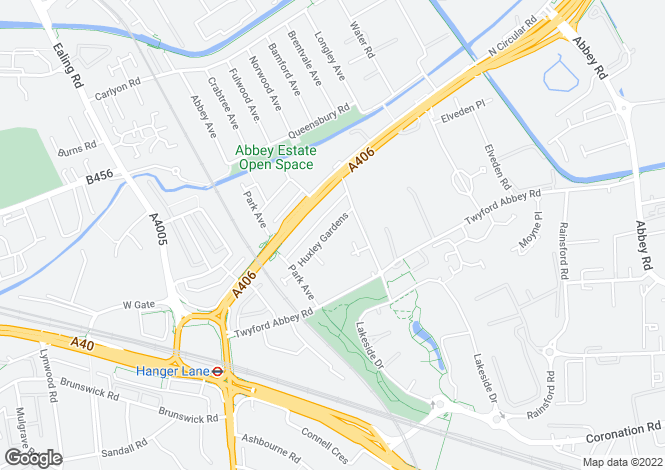 Map for Huxley Gardens, Ealing