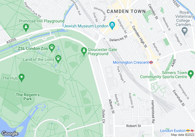 Map for St Katharines Precinct, Regent's Park, London, NW1