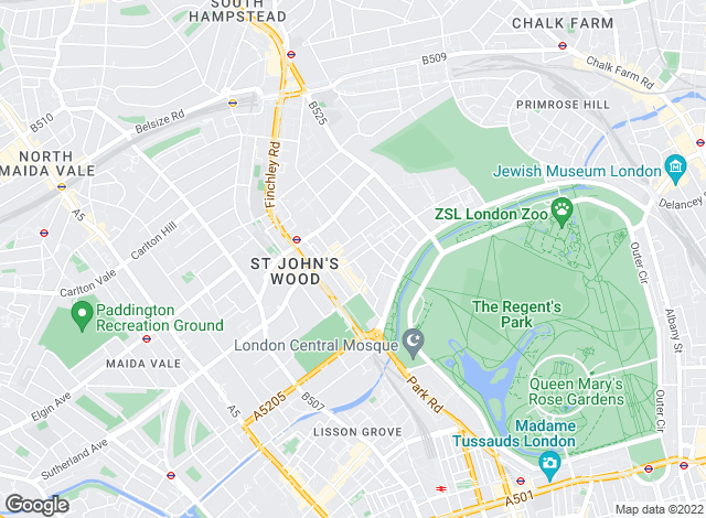 Map for Fox Gregory, St. Johns Wood