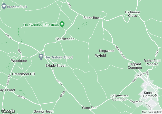 Map for Checkendon, Reading
