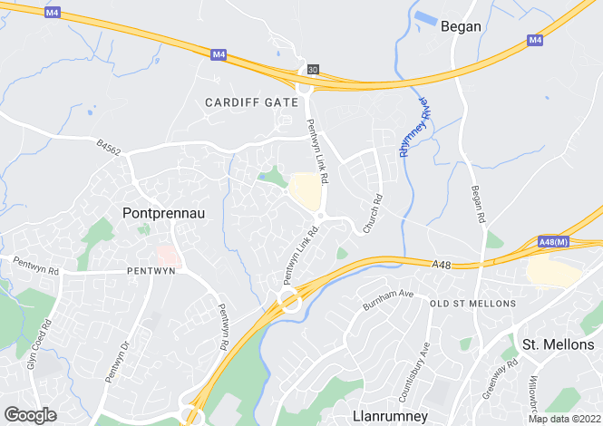 Map for Lascelles Drive, Pontprennau, Cardiff