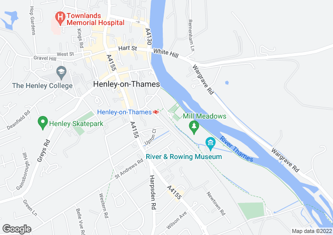 Map for Meadow Road, Henley On Thames, Oxfordshire, RG9