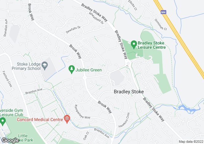 Map for Hornbeam Close, Bradley Stoke, Bristol, BS32