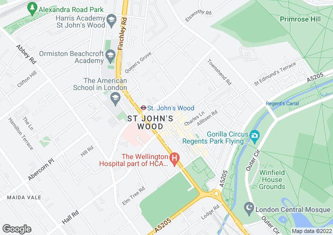 Map for St Anns Terrace, St. Johns Wood, NW8 6PH