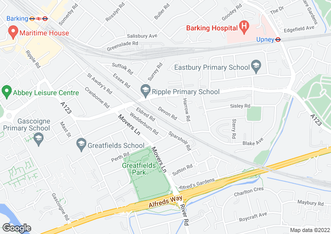 Map for Devon Road,