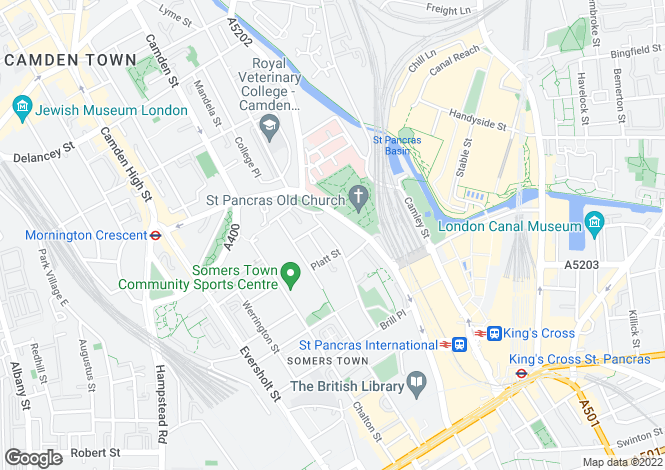 Map for OLYMPIC LETTINGS, Kings Cross, London NW1