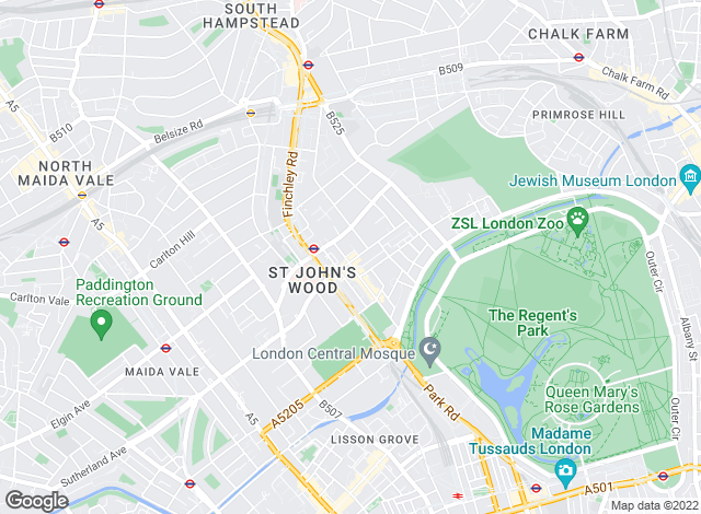 Map for Behr & Butchoff Estate Agents, St John's Wood