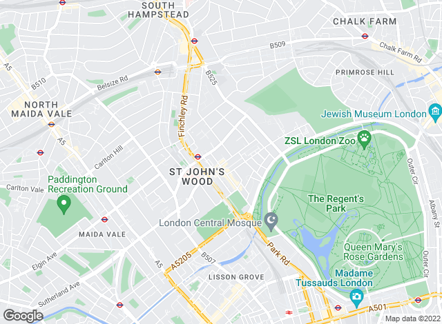 Map for Foxtons, St Johns Wood
