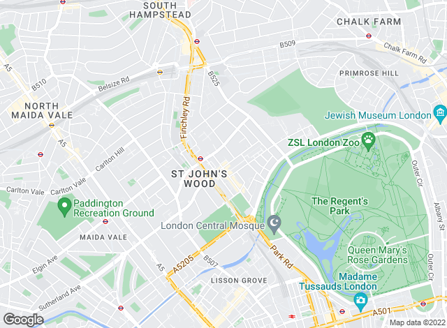 Map for Hamptons International Sales, St John's Wood
