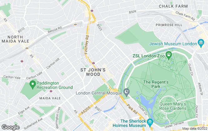 Map for Hamptons International Lettings, St. Johns Wood - Lettings