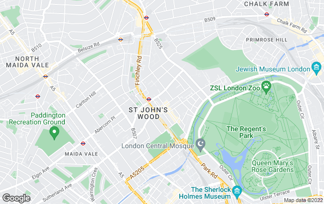 Map for Dexters, St. Johns Wood