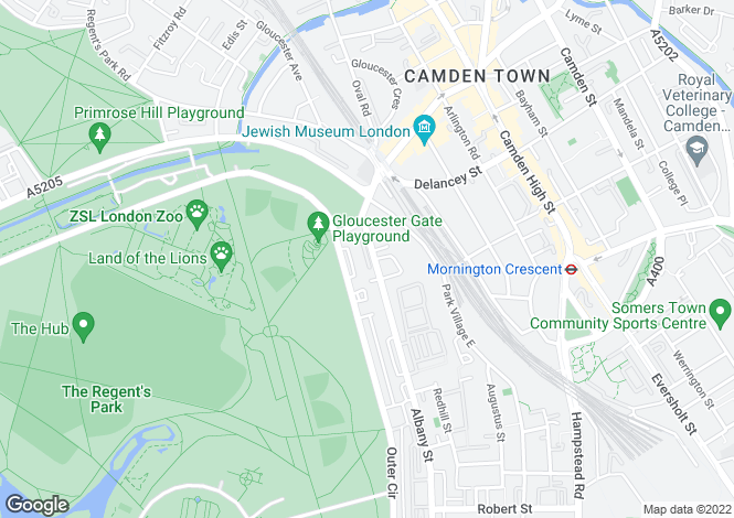 Map for St Katharine's Orchard, Regent's Park, London, NW1